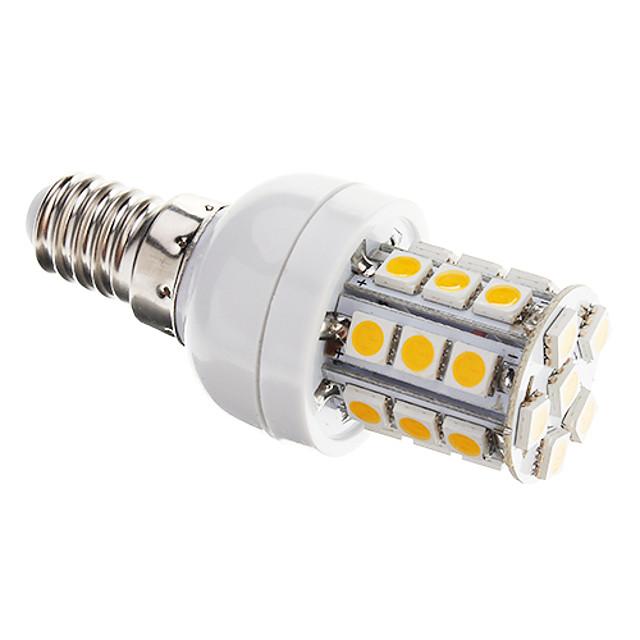 LED-kornpærer 350 lm E14 T 27 LED perler SMD 5050 Mulighet for demping Varm hvit 220-240 V