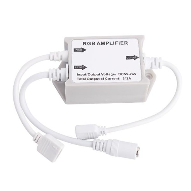 LED-uri de lumină Amplificator amplificator de semnal repetor cu LED-uri RGB Amplificator pentru 5050 RGB LED-uri SMD Strip Light (12V DC 6A)