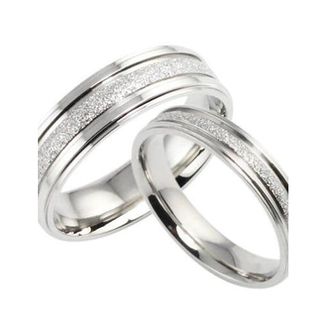 Inele Cuplu Perle Argintiu Oțel titan Iubire femei de Mireasă / Pentru femei / Band Ring