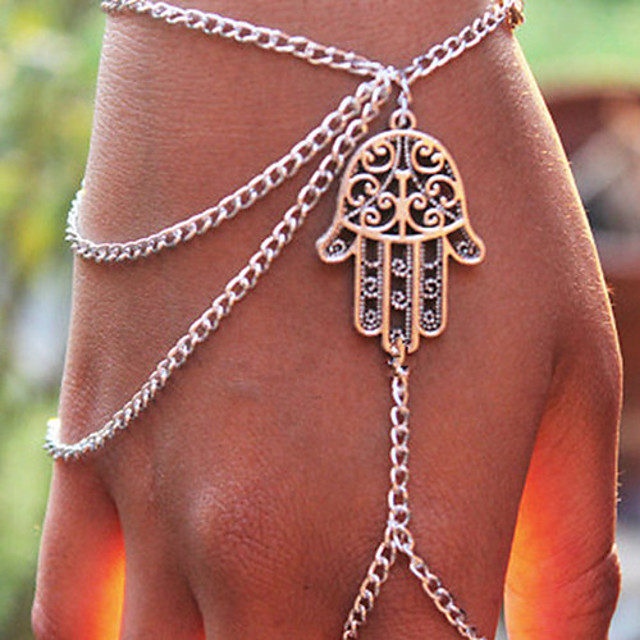 Pentru femei Brățări cu Talismane Ring Bracelets Franjuri Sclavii de aur femei Personalizat Ciucure European Modă Aliaj Bijuterii brățară Argintiu Pentru Petrecere Zilnic Casual Costume Cosplay