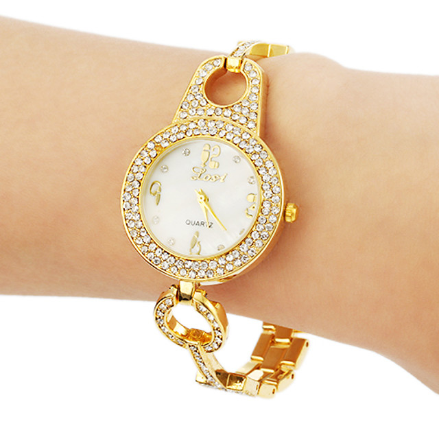 Dame Diamond Watch Quartz Sølv / Guld / Rose Guld Bling bling - Guld Sølv Rose Guld