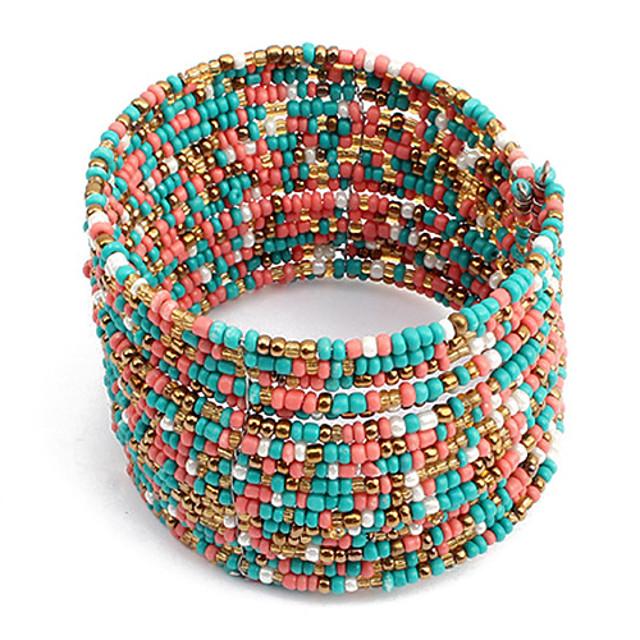 Pentru femei Brățări Bangle femei Design Unic Boem Modă Deschis Teracotă Bijuterii brățară Roz-albastru / Alb / Albastru Pentru Cadouri de Crăciun Sport