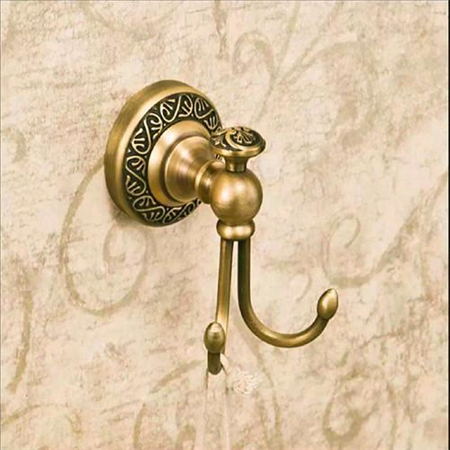 Robe Hook Antique Brass 1 pc - Hotel bath
