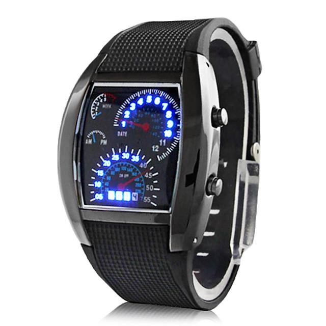 สำหรับผู้ชาย นาฬิกาข้อมือ นาฬิกาดิจิตอล ดิจิตอล ปฏิทิน ดิจิตอล น้ำเงินเข้มและ สีเงิน น้ำเงินท้องฟ้า+เงิน แดง+เงิน / สองปี / ยาง / สองปี / Panasonic CR2032