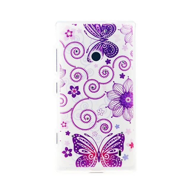 Maska Pentru Nokia Lumia 520 / Nokia Model Capac Spate Fluture Moale TPU