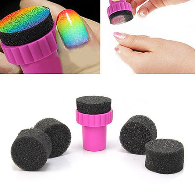 5pcs Svamp Spikermanikyrverktøy Vand resistent Personalisert Klassisk Daglig Nail Art Tool til Fingernegl Tånegl