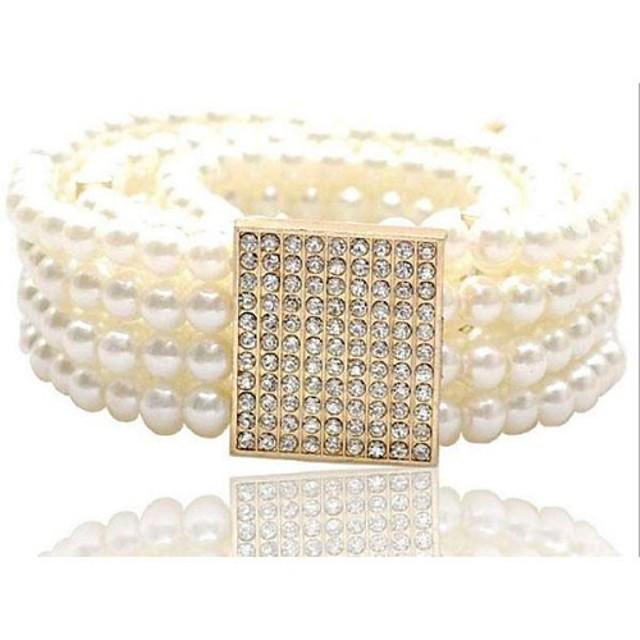 Pentru femei Mată Imitație de Perle - Curea Lată / Draguț