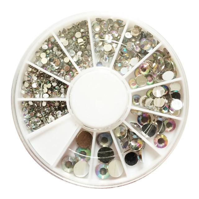 500 pcs Nail Art Kit Bijuterie unghii nail art pedichiura si manichiura Zilnic Abstract / Modă / Teracotă / Unghiul de bijuterii