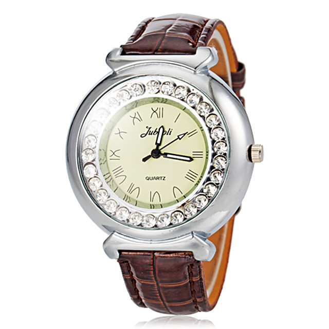 Pentru femei Diamond Watch Quartz Negru / Roșu / Maro
