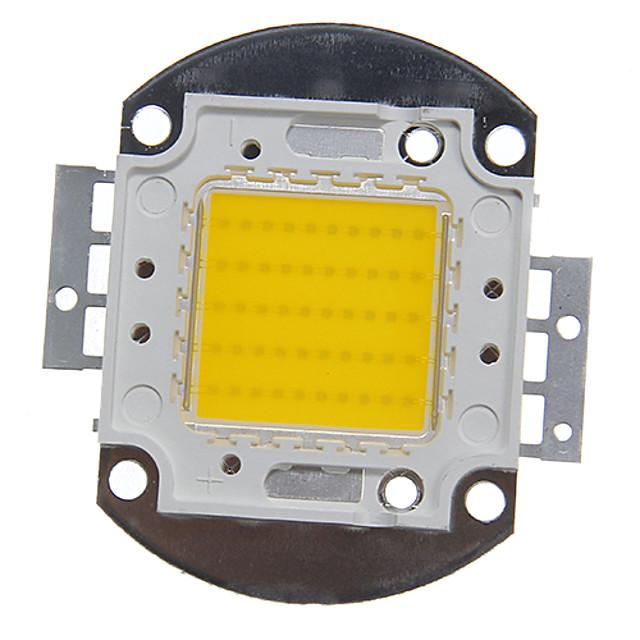 zdm 1pc intégré led 4000-5000 lm 30 v ampoule accessoire led puce en aluminium pour diy led projecteur de lumière crue 50 w blanc chaud