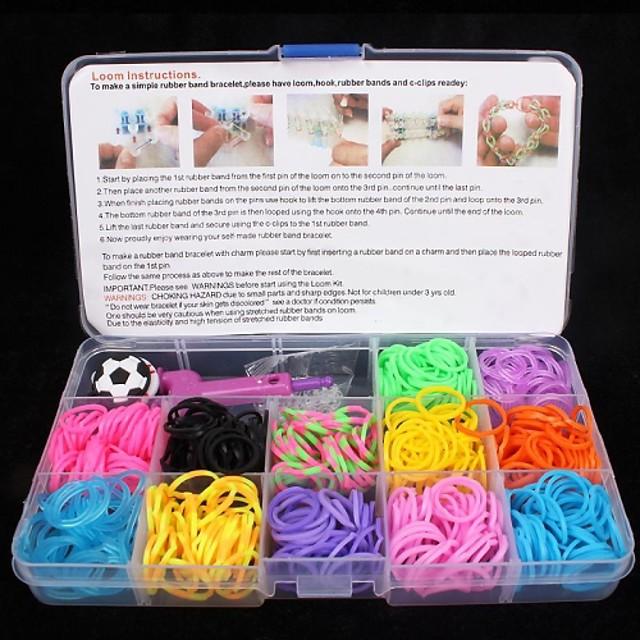 Reșină Cauciuc Curea din Cauciuc Cutii de Bijuterii Pentru Plin de Culoare Curcubeu Roz