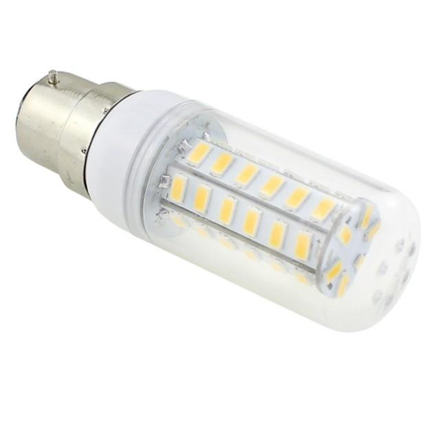 6 W Becuri LED Corn 3000-3500 lm B22 T 48 LED-uri de margele SMD 5730 Alb Cald 220-240 V / RoHs