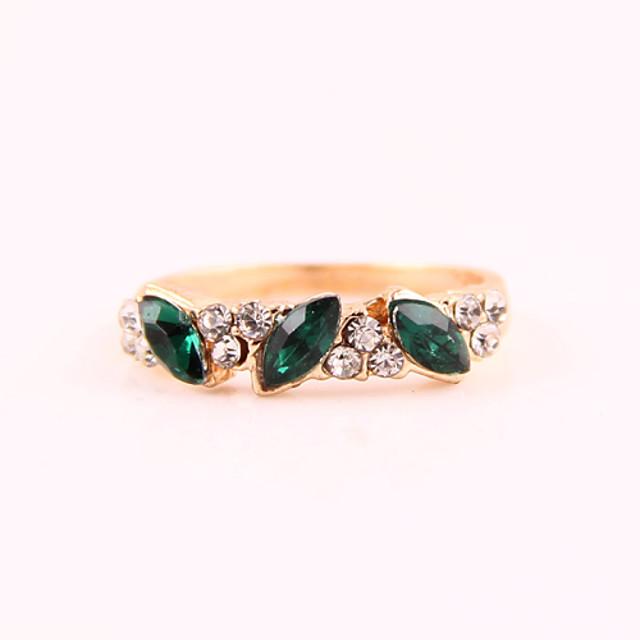 Pentru femei Verde Smarald Sintetic Emerald Band Ring - Ștras, Diamante Artificiale, Aliaj Bijuterii Pentru Zilnic Casual