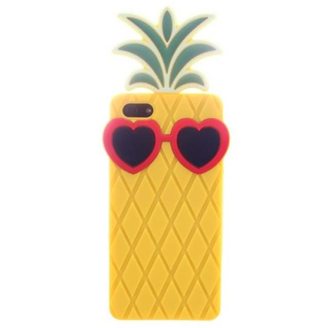 Ananas avec une paire de lunettes Design Coque silicone souple pour iPhone 5/5S (couleurs assorties)