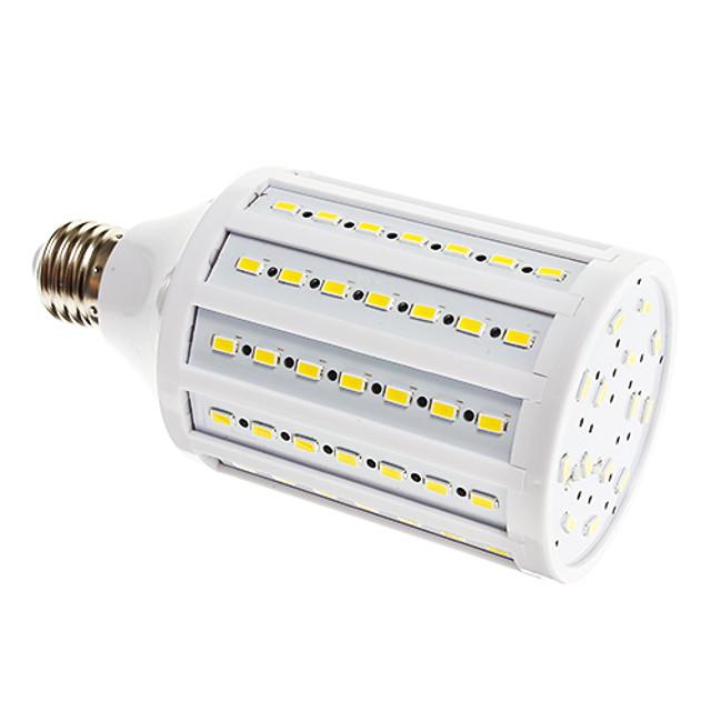 Becuri LED Corn 1600 lm E26 / E27 T 98 LED-uri de margele SMD 5730 Alb Cald 220-240 V