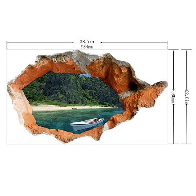 Autocolante de Perete Decorative - 3D Acțibilduri de Perete #D Sufragerie / Dormitor / Cameră de studiu / Birou