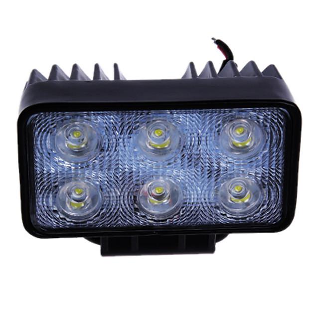 18W (6 * 3W Epsitar) 2050LM 6000K auto LED-uri de lumină de lucru Bar spot Lampa pentru off-road SUV Truck (DC9-32V)