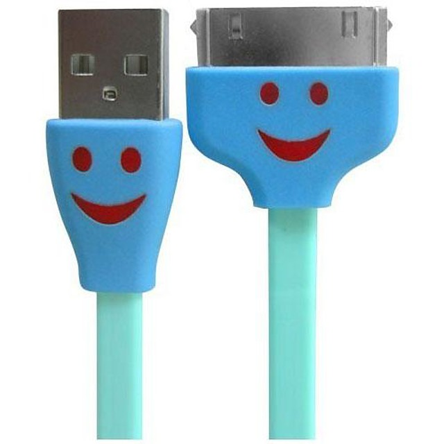 Smiling Flowing Current Charger Apple 8 Pin Cable with LED for iPhone 6 iPhone 6 Plus iPhone 4/4s/5c iPad