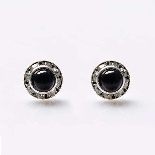 Pentru femei Perle Cercei Stud femei Lux Perle Cristal Imitație de Perle cercei Bijuterii Negru / Alb Pentru Nuntă Petrecere Zilnic Casual Sport / Diamante Artificiale / Perlă neagră / Ștras