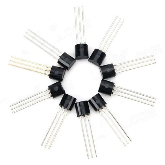 30V NPN triodă Putere Pachetul Transistor Transistor - Negru (10 PCS)