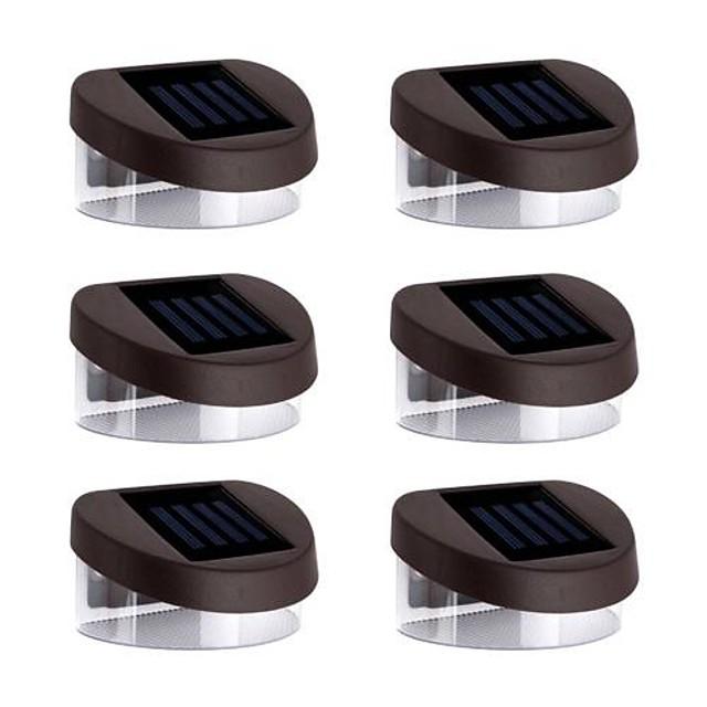 6pcs Lumină de noapte / Lumini Solare LED Solar Rezistent la apă / Reîncărcabil