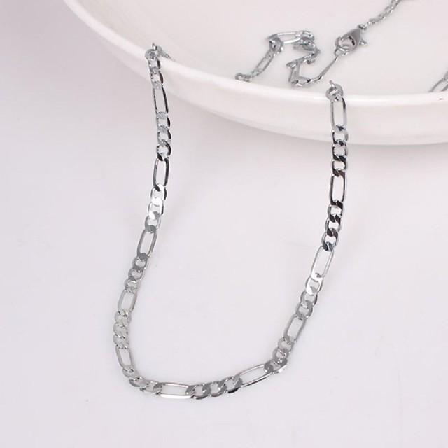 Bărbați Lănțișoare Design Unic Modă Aliaj Argintiu Coliere Bijuterii Pentru Petrecere Nuntă Cadou Casual Zilnic Sport