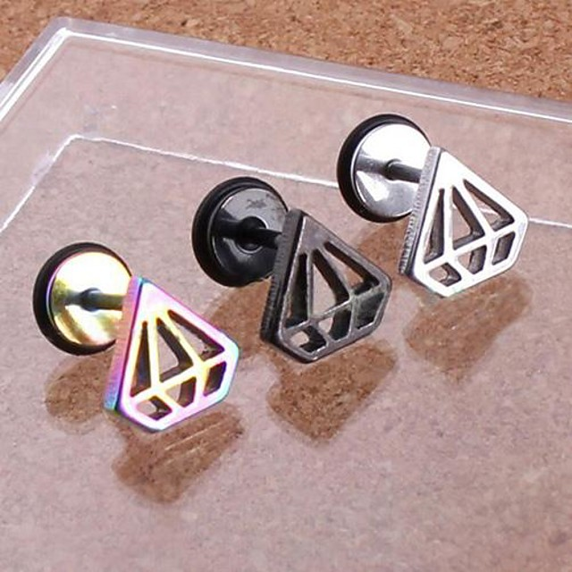 Men's Stud Earrings Stainless Steel Earrings Jewelry For Wedding Party Daily Casual Sports