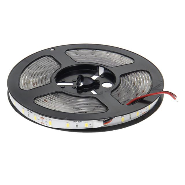 5m Fâșii De Becuri LEd Flexibile 300 LED-uri 5630 SMD Alb Cald Rezistent la apă / Ce poate fi Tăiat / Auto- Adeziv 12 V 1 buc / IP65
