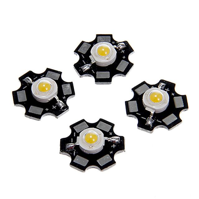 5τμ 1w 80-100lm υψηλής φωτεινότητας τσιπ led ζεστό λευκό κρύο λευκό φυσικά λευκό μπλε φως εξαιρετικά φωτεινή υψηλή ισχύ με υπόστρωμα αλουμινίου (dc3-3.2v 280-320ma)