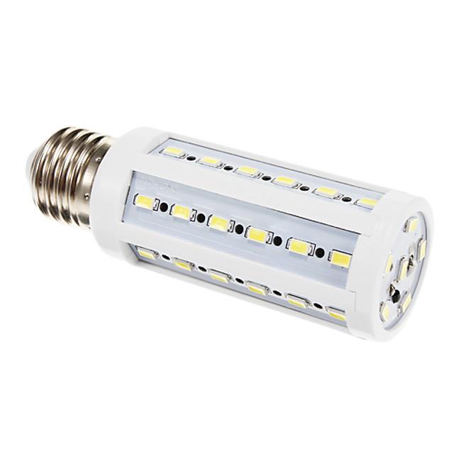 LED-kornpærer 900 lm E26 / E27 T 42 LED perler SMD 5630 Kjølig hvit 220-240 V