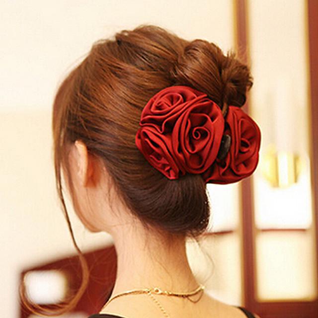 Pentru femei Clești Pentru Petrecere Zilnic Casual Flori Teracotă Material Textil Roșu Închis Roz Negru