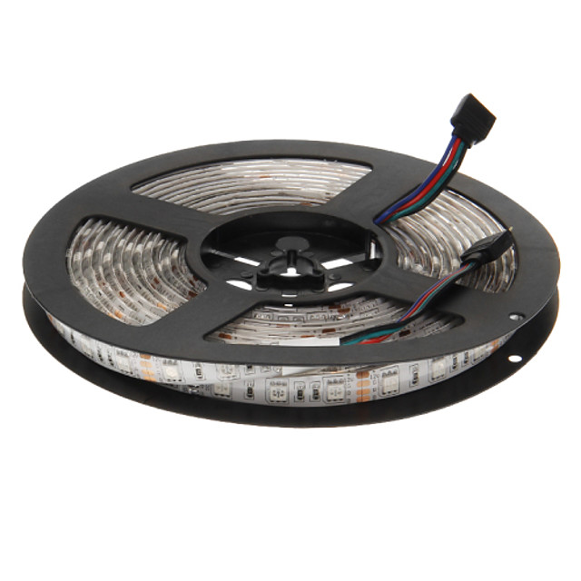 zdm 5 m rola 5050 rgb picurare impermeabil 300 led-uri flexibile moale benzi vacanță partid decorare lampă centura (dc12v)