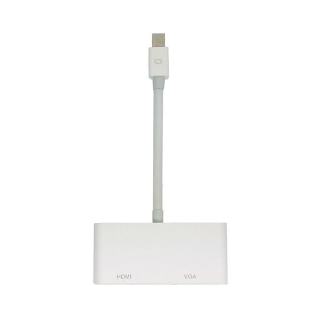Mini DisplayPort Thunderbolt la VGA și adaptor HDMI Cablu 2 in1 pentru Apple MacBook Air & & Pro și iMac