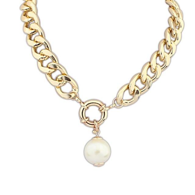 Pentru femei Perle Coliere cu Pandativ Κολιέ με Πέρλες femei Vintage European Modă Perle Aliaj Culoare ecran Coliere Bijuterii 1 buc Pentru Ocazie specială Zi de Naștere Cadou