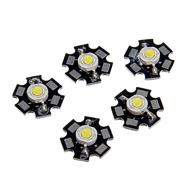 zdm® 5pcs vysoce výkonný led / vysoký výkon led cood bílá 6000-6500k 100-120 lm 3 žárovka příslušenství hliník / čistý zlatý drát led led čip pro diy led povětrnostní světlo reflektor / pro nástěnné s