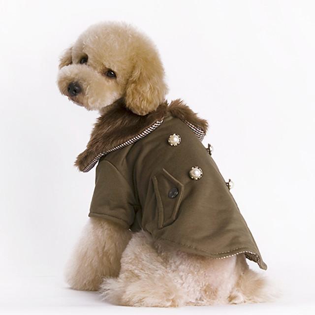 Câine Haine Mată Keep Warm Modă Iarnă Îmbrăcăminte Câini Maro Costume Bumbac XS S M L XL