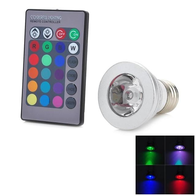 1 buc 3 W Spoturi LED 100-200 lm E26 / E27 1 LED-uri de margele LED Putere Mare Telecomandă Decorativ culoare Gradient RGB 85-265 V / RoHs