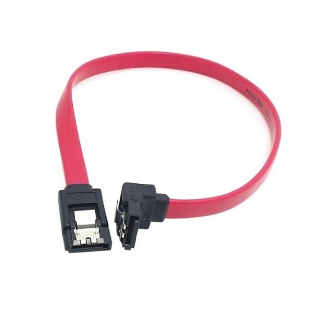 sata cablu de extensie 7pin cu blocare de blocare și dop unghi de 90 de grade pentru hard disk 0,3M 1FT