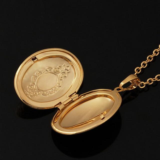 Coliere cu Pandativ Coliere Colier femei 18K Placat cu Aur Articole de ceramică Placat Auriu Auriu Coliere Bijuterii Pentru Nuntă