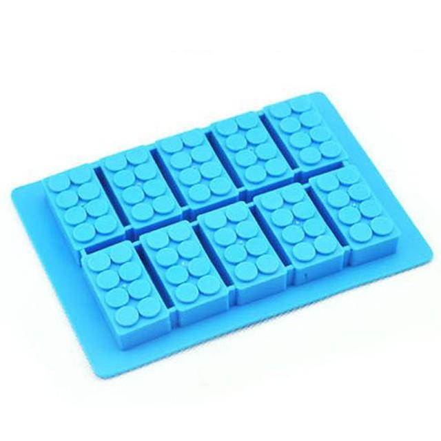 10 trous brique bloc de construction forme moule à glace fabricant de crème glacée moule de silicone bricolage