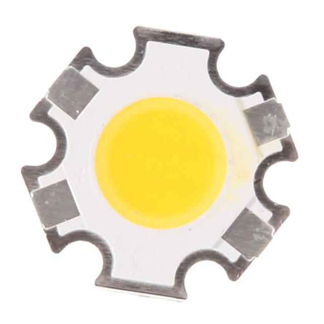 zdm® 1pc korkean suorituskyvyn led / cob lämmin valkoinen 280-320 lm valo / lamppu lisävaruste koko kehon silikoni / puhdas kulta johdin johti johdin siru 3 w