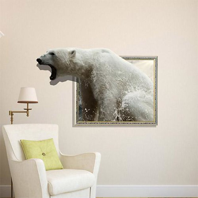 3d bear pegatinas de pared tatuajes de pared 1pc