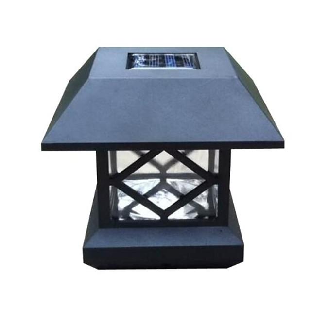 Solar Mesaj Cap Light Deck Gard Muntele în aer liber Garden Fence Lamp