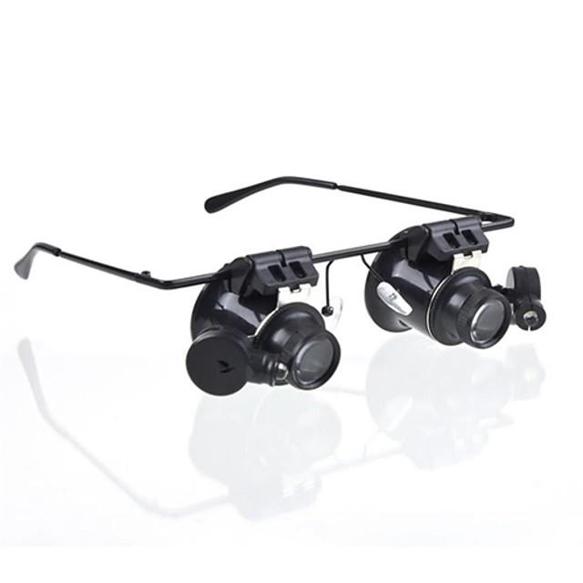 20X Oświetlenie LED Okulary powiększające Powiększanie Pomoc do czytania Naprawa Zegarka Plastik na 1 Mikroskop
