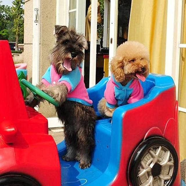 Câine Hanorace cu Glugă Cosplay Iarnă Îmbrăcăminte Câini Albastru Roz Costume Material amestecat S M L XL