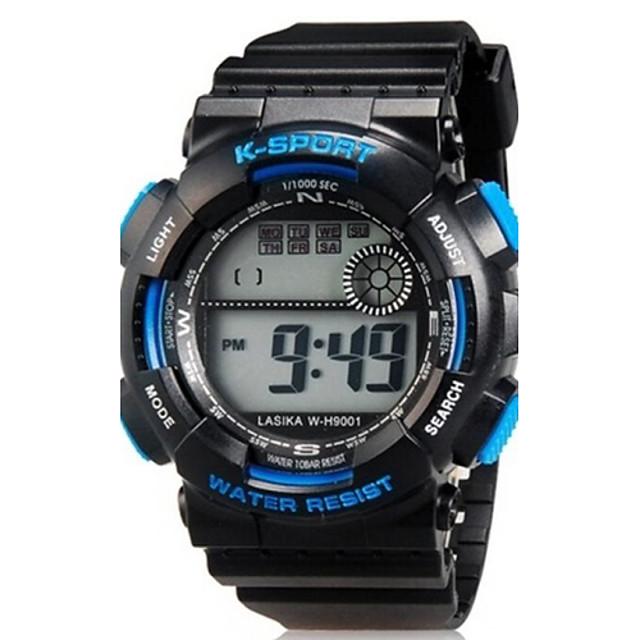Ceas Sport Ceas de Mână Quartz Silicon Negru Piloane de Menținut Carnea Casual - Negru Albastru Doi ani Durată de Viaţă Baterie / Maxell626 + 2025