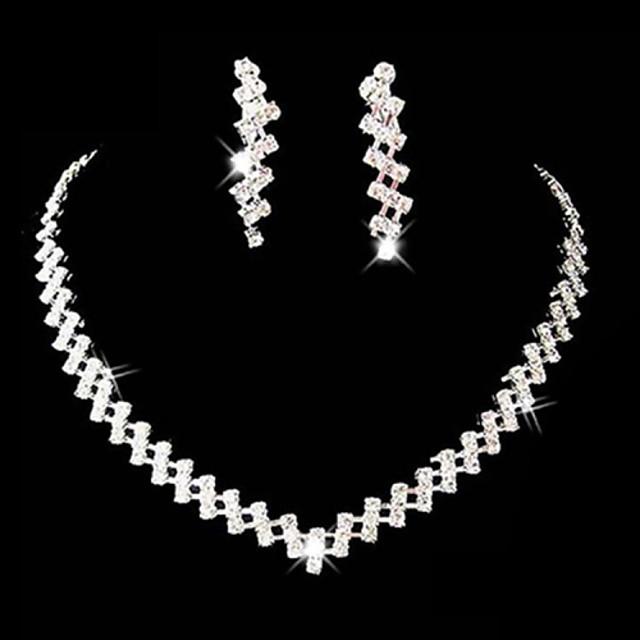 Pentru femei Ștras Aliaj Nuntă Petrecere Ocazie specială Aniversare Zi de Naștere Logodnă Cadou Costum de bijuterii
