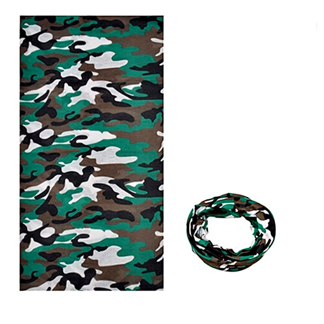 KORAMAN Neck Gaiter Neck Tube / Headsweat Spring / Summer / Fall Windproof / Ultraviolet Resistant / Wearable Camping / Hiking / Climbing / Cycling / Bike Men's / Women's / Unisex Polyester Camouflage