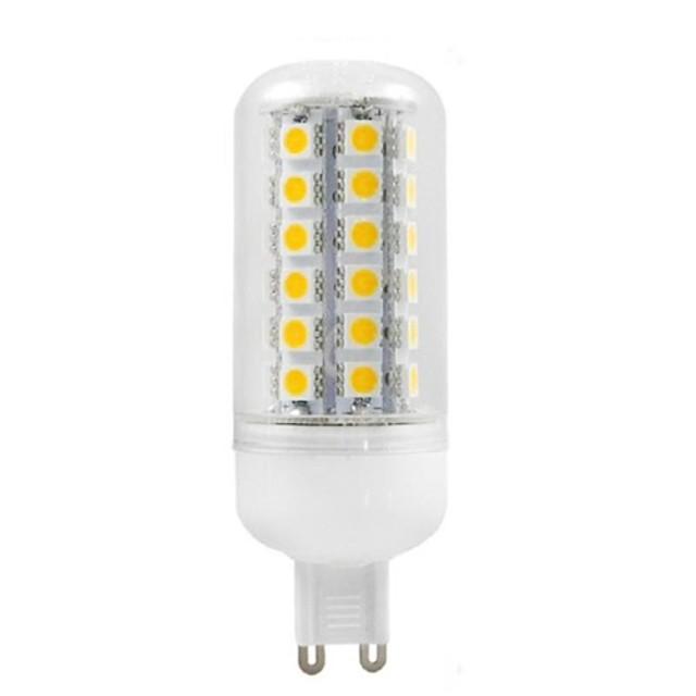 Becuri LED Corn 500 lm G9 Spot Încastrat 48 LED-uri de margele SMD 5050 Decorativ Alb Cald 220-240 V / RoHs