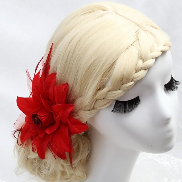 Cristal / Pană / Material Textil Diademe / Îmbrăcăminte de păr / Flori cu 1 Nuntă / Ocazie specială / Party / Seara Diadema